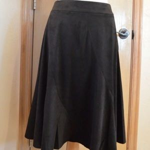 GILI Black Faux Suede Skirt